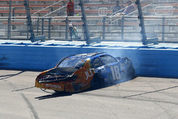 Daniel Suarez, Joe Gibbs Racing Toyota, crash