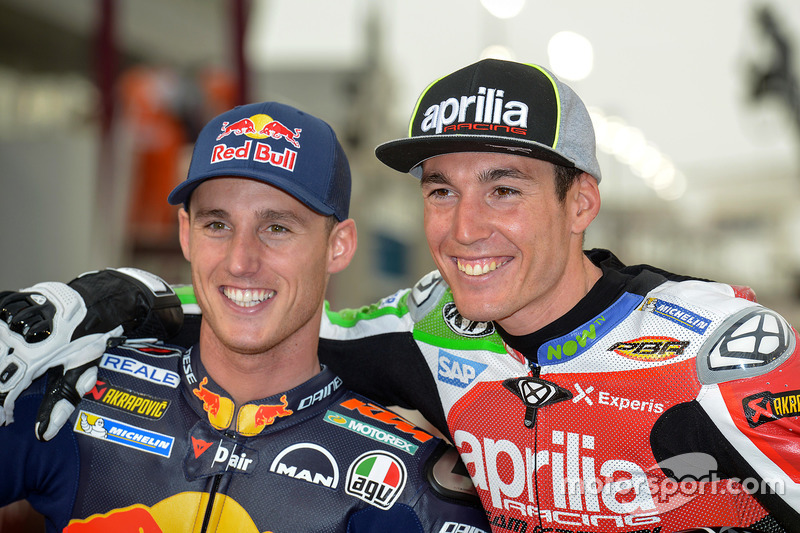 Pol Espargaro, Red Bull KTM Factory Racing; Aleix Espargaro, Aprilia Racing Team Gresini