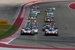 Start: #1 Porsche Team Porsche 919 Hybrid: Neel Jani, Andre Lotterer, Nick Tandy, führt