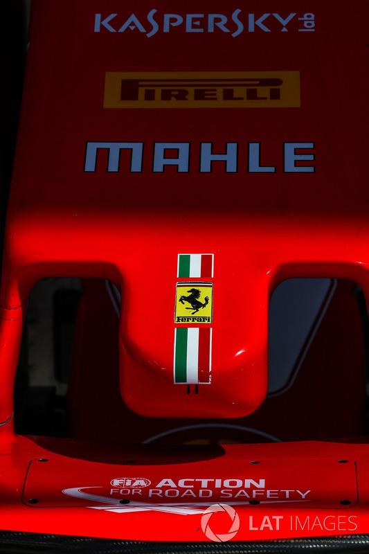 Detalle de la nariz del Ferrari SF70-H
