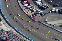 Jimmie Johnson, Hendrick Motorsports Chevrolet beats the pace car to pit road