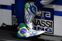 Tony Kanaan, Chip Ganassi Racing Honda shoes