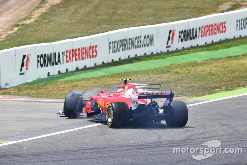 Kollision: Kimi Räikkönen, Ferrari SF70H