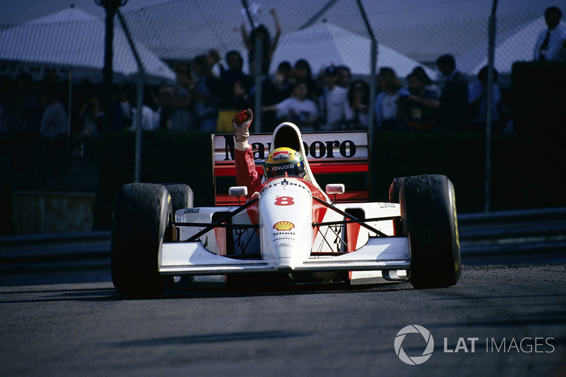 1993年モナコGP:アイルトン・セナ(マクラーレン・フォードMP4/8)
