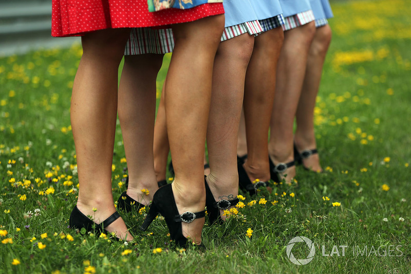Shoes of the grid girls