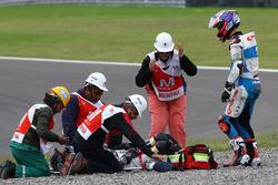 Fabio Quartararo, Pons HP 40, et Axel Pons, RW Racing GP, blessé après sa chute