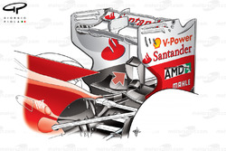 Ferrari F2012 rear wing and monkey seat detail