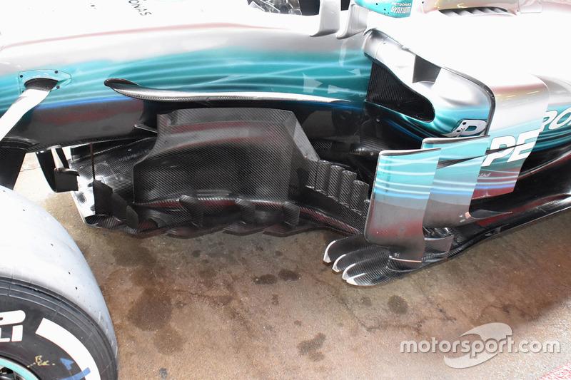 Детали центральной части Mercedes F1 W08