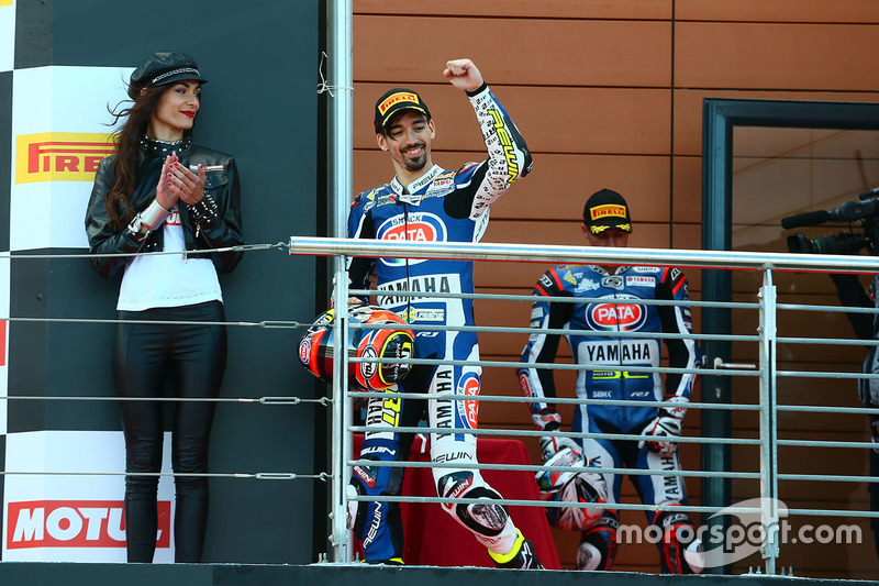 Podium: third place Roberto Tamburini, Pata Yamaha Official STK 1000 Team