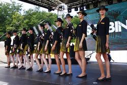 Grid Girls on stage