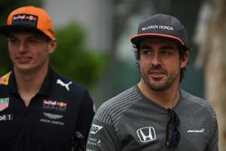 Fernando Alonso, McLaren and Max Verstappen, Red Bull Racing