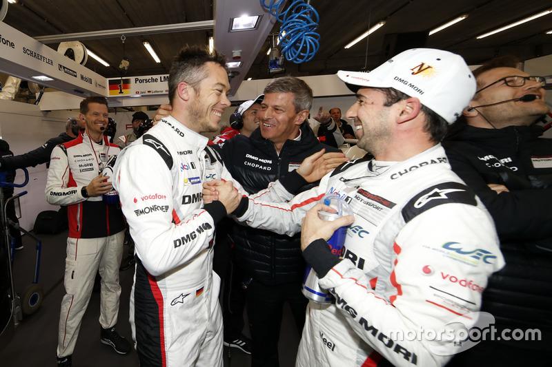 Polesitters Andre Lotterer, Neel Jani, Porsche Team