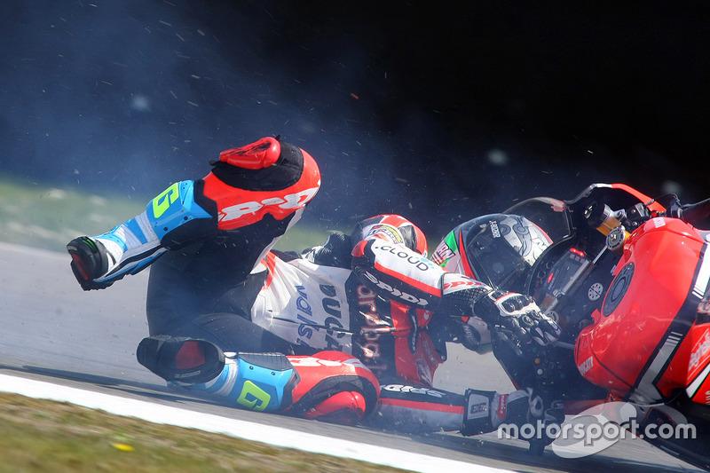 1. Marco Melandri, Ducati Team choque