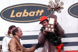 Podium: 1. Gilles Villeneuve, Ferrari; Pierre Elliot Trudeau, Premierminister von Kanada