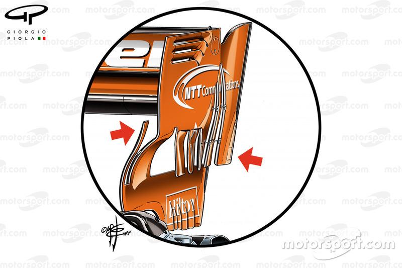 """الجناح الخلفي لسيارة مكلارين """"ام.سي.ال32"""" في البحرين"""