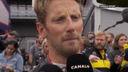 GP de Belgique - Interview de Romain Grosjean, 7e