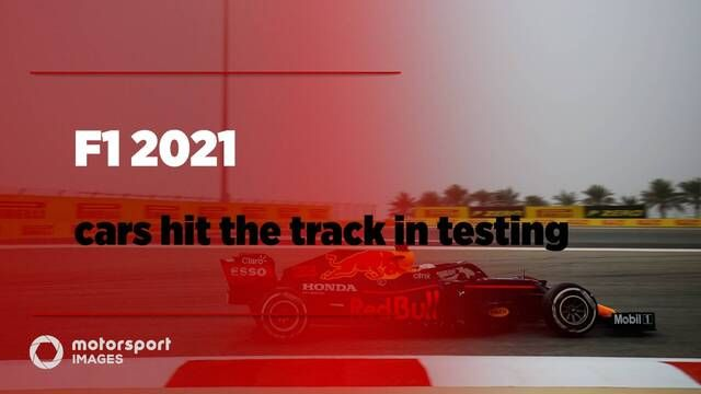 F1 2021 cars on track in testing