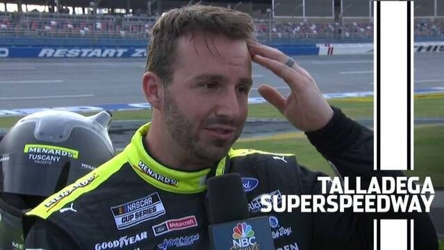 Matt DiBenedetto emotional following Talladega finish