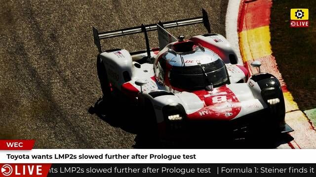 WEC: Toyota fastest in final Prologue session but wants LMP2 cars slowed