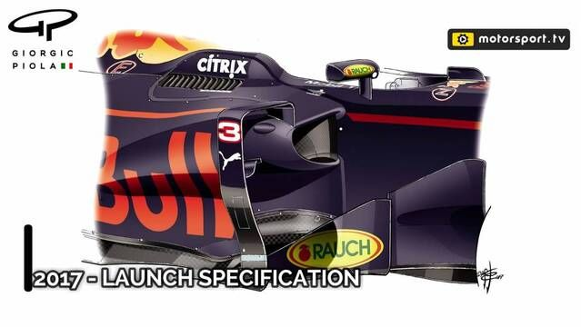 Red Bull's bargeboard development