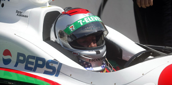 IRL: Mario Andretti flips at Indy