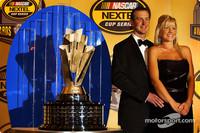 Gracious Busch accepts his awards