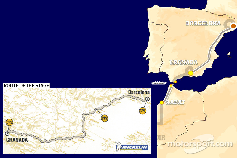 Dakar: Stage 2 Barcelona to Granada notes