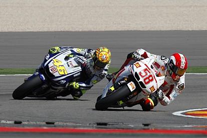 """Rossi n'a """"jamais pensé arrêter"""" après l'accident de Simoncelli"""