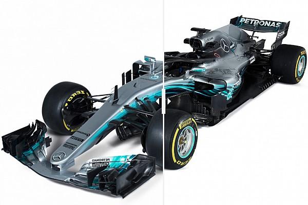 Формула 1 Самое интересное Попробуйте найти отличия: сравнение Mercedes W08 и W09