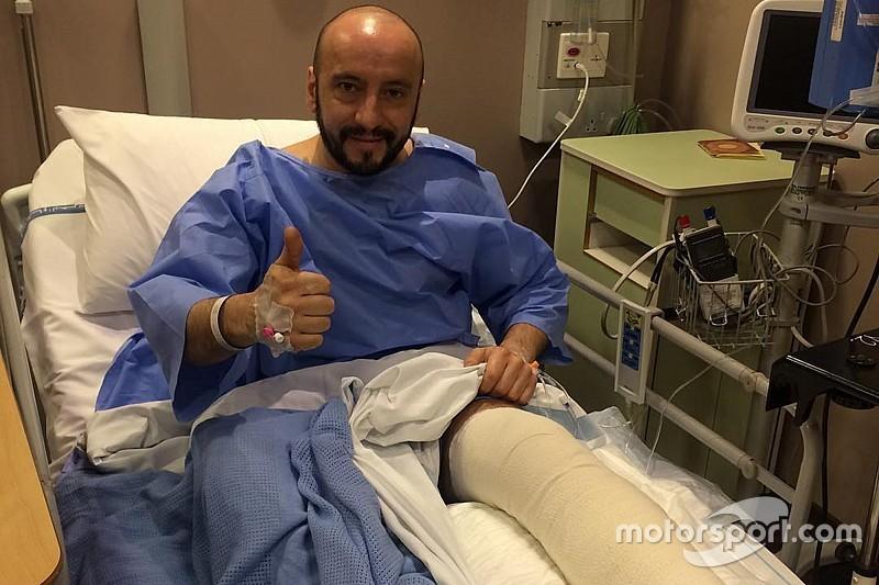 Травмированный механик Ferrari успешно перенес операцию на ноге