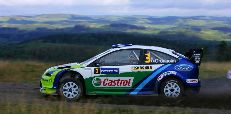 Gronholm takes early lead in Rally Finland