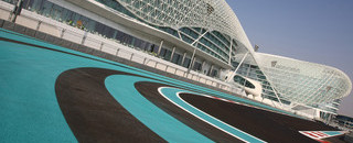 Formula 1 Formula One races into the desert sunset of Abu Dhabi