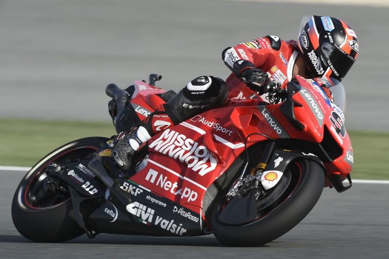 MotoGP Katar Warm-up: Danilo Petrucci fährt Bestzeit, Valentino Rossi Elfter