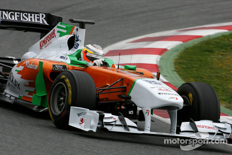Force India Barcelona test report 2011-03-08