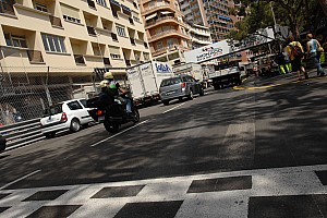 Formula 1 Monaco fire damages track surface