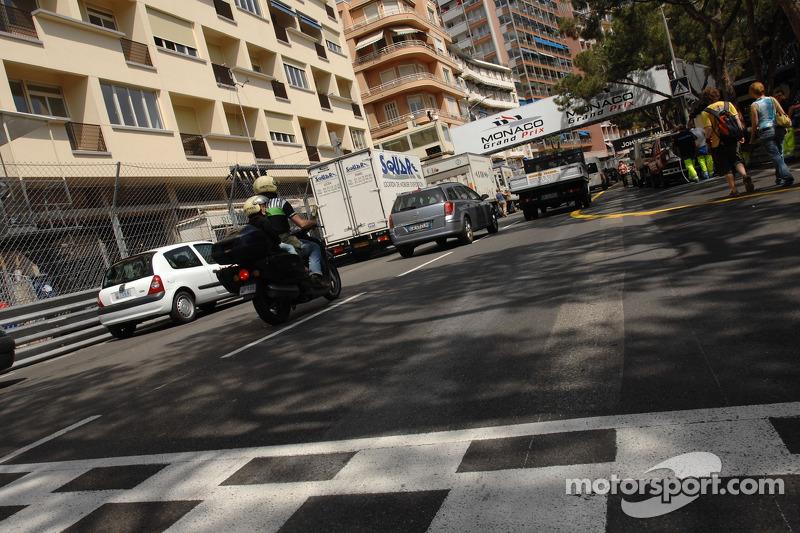 Monaco fire damages track surface
