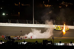 NASCAR Cup MIS update on Barnes' fiery escape from Daytona jet dryer