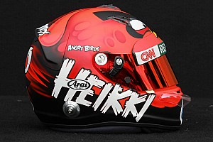 Formula 1 Kovalainen turns heads with Angry Birds helmet