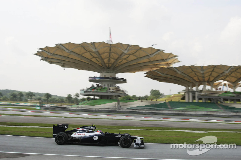 Williams Malaysian GP - Sepang Friday report