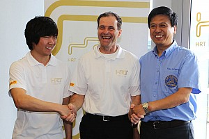 Formula 1 HRT presents Ma Qing Hua in Shanghai as new team member