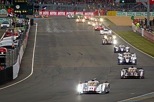 Le Mans Polesitting Audi holds the lead after the first hour