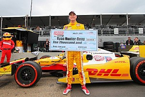 IndyCar Qualifying report Hunter-Reay captures pole, Franchitti to start first in Edmonton