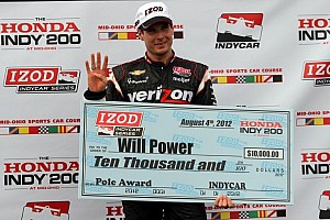 IndyCar Qualifying report Will Power scores third pole of 2012 with Mid-Ohio scorcher