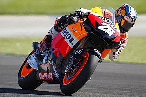 MotoGP Qualifying report Pedrosa takes Indianapolis pole with record lap