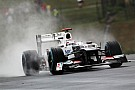 Kobayashi splashes his way to Friday's fastest lap at Spa in Belgium
