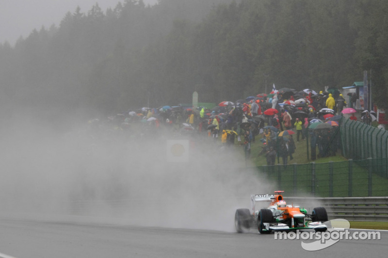 Limited running for Force India on Belgium GP first practice day