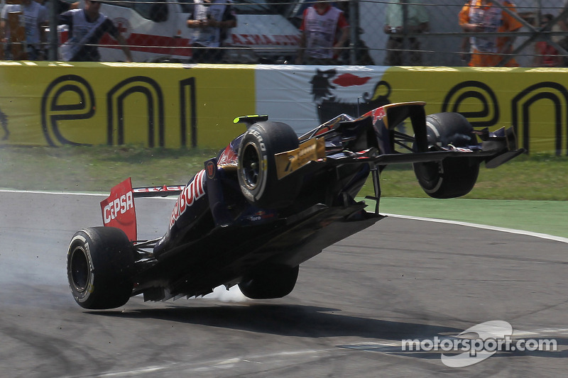 Another flying moment at Monza