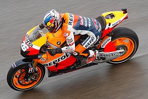 MotoGP Qualifying report Pedrosa misses pole while Rea manages third row for Aragon GP