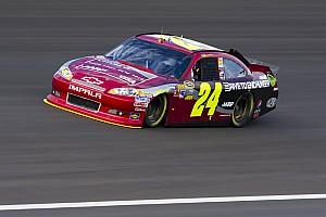 NASCAR Cup Interview Gordon on Kansas: The preferred lane is around the bottom