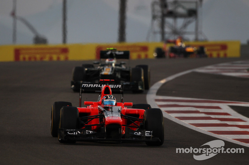 After Abu Dhabi GP, Marussia still holding 10th position in the Constructors' Championship